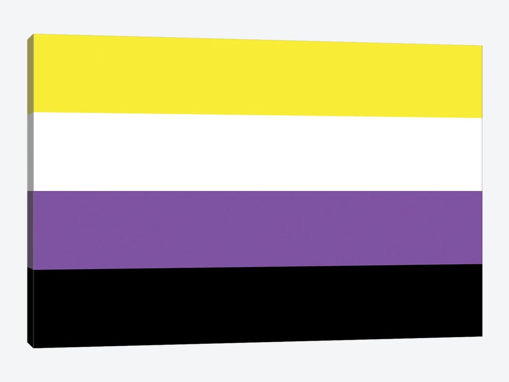 Non-Binary Pride Flag by 5by5collective 1-piece Canvas Art Print