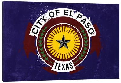 El Paso, Texas Fresh Paint City Flag Canvas Print #FLG83