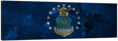 U.S. Air Force Flag (F-22 Raptor Background) II Canvas Art Print