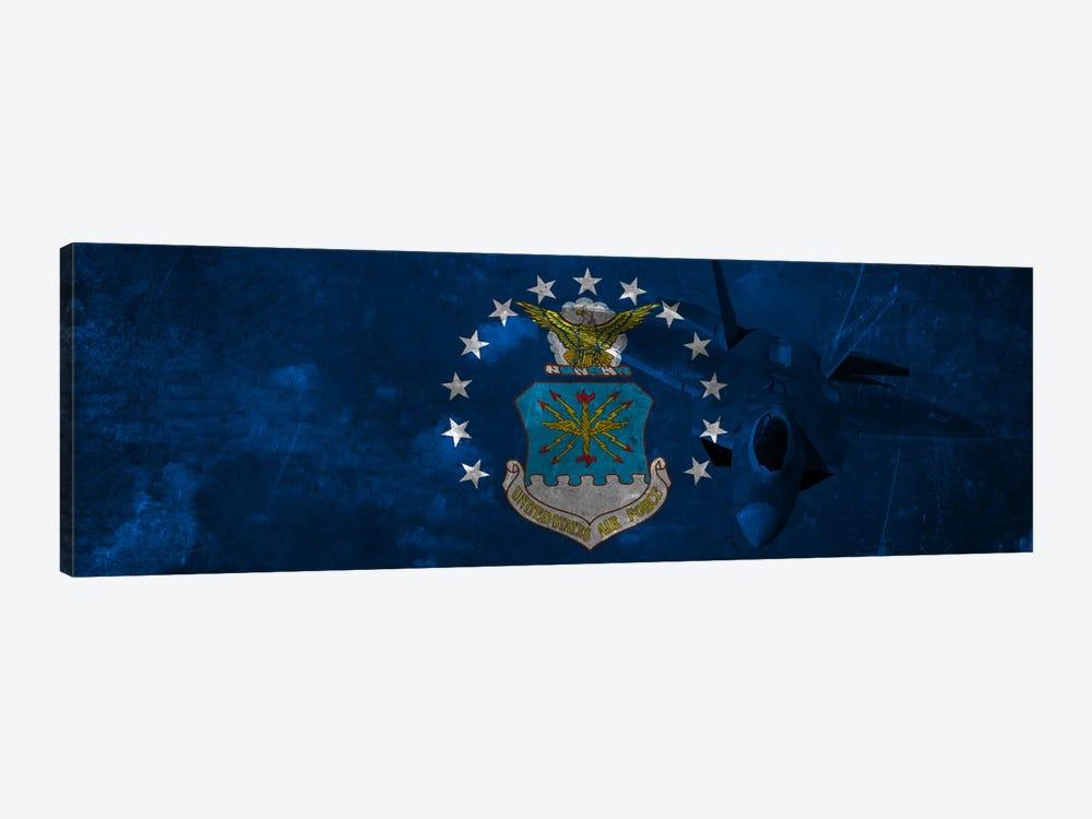 U.S. Air Force Flag (F-22 Raptor Background) II by iCanvas 1-piece Canvas Artwork