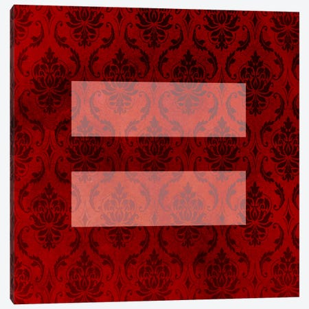 LGBT Human Rights & Equality Flag (Floral Damask) Canvas Print #FLG90} by iCanvas Art Print