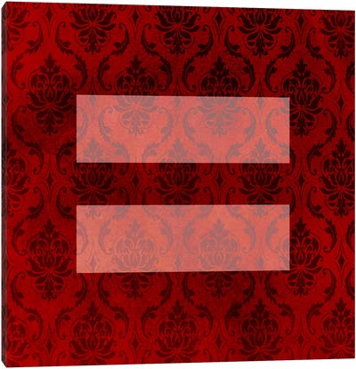 LGBT Human Rights & Equality Flag (Floral Damask) Canvas Art Print