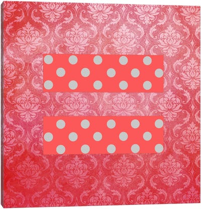 LGBT Human Rights & Equality Flag (Floral Damask Polka Dots) Canvas Art Print