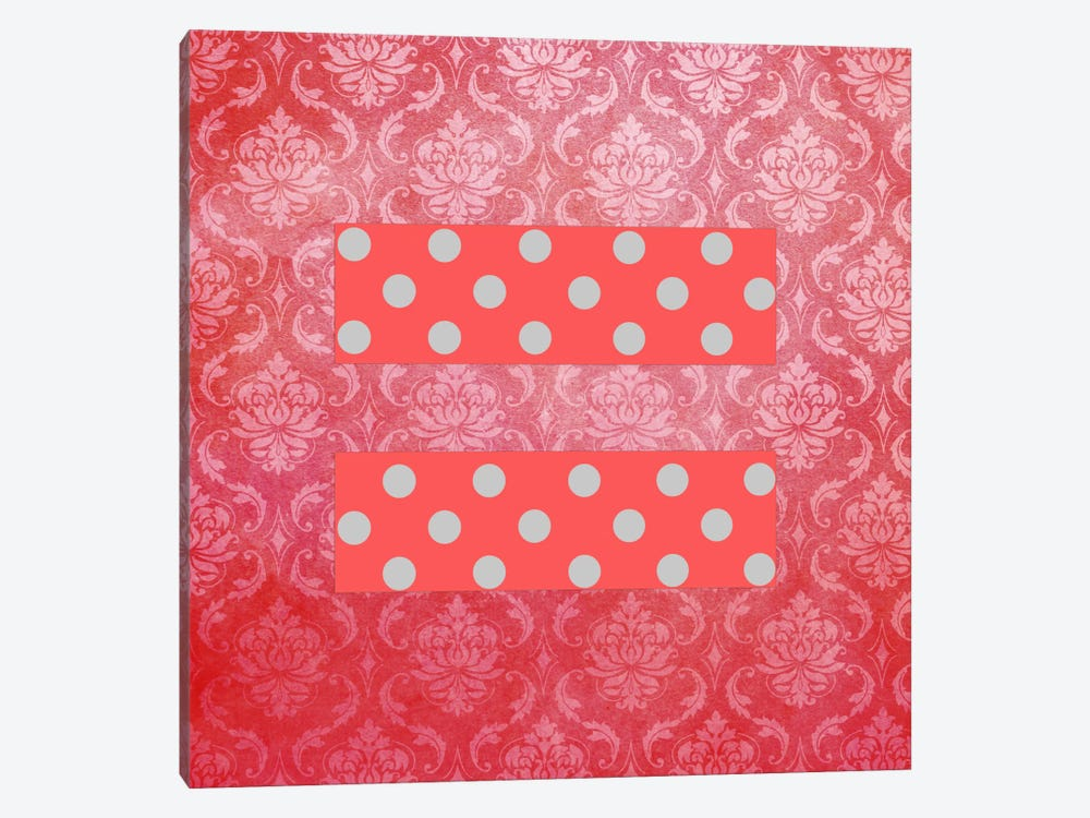 LGBT Human Rights & Equality Flag (Floral Damask Polka Dots) by iCanvas 1-piece Canvas Wall Art