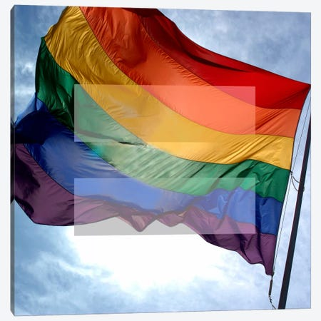 LGBT Human Rights & Equality Flag (Rainbow) I Canvas Print #FLG92} by iCanvas Art Print