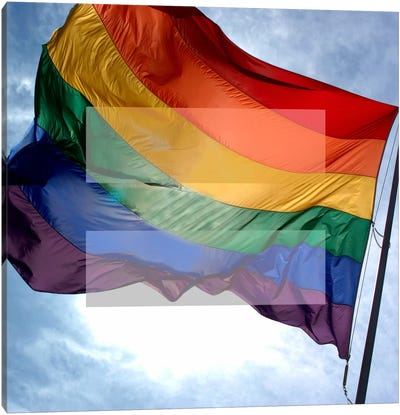 LGBT Human Rights & Equality Flag (Rainbow) I Canvas Art Print