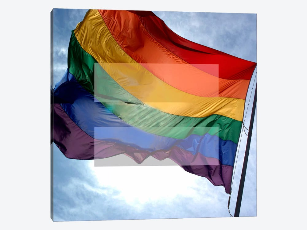 LGBT Human Rights & Equality Flag (Rainbow) I by iCanvas 1-piece Art Print