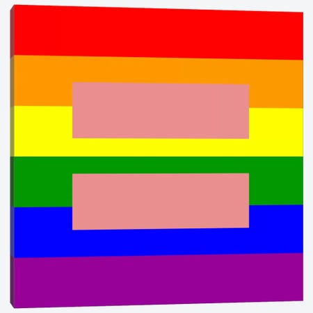 LGBT Human Rights & Equality Flag (Rainbow) II Canvas Print #FLG95} by iCanvas Canvas Art