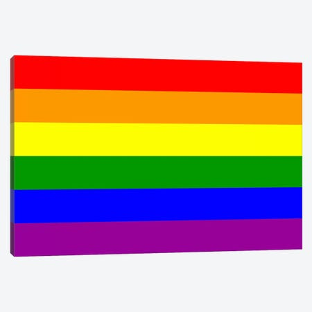 LGBT Rainbow Flag Canvas Print #FLG96} by iCanvas Canvas Artwork