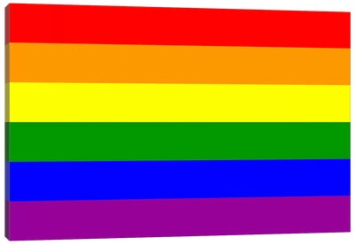 LGBT Rainbow Flag Canvas Art Print