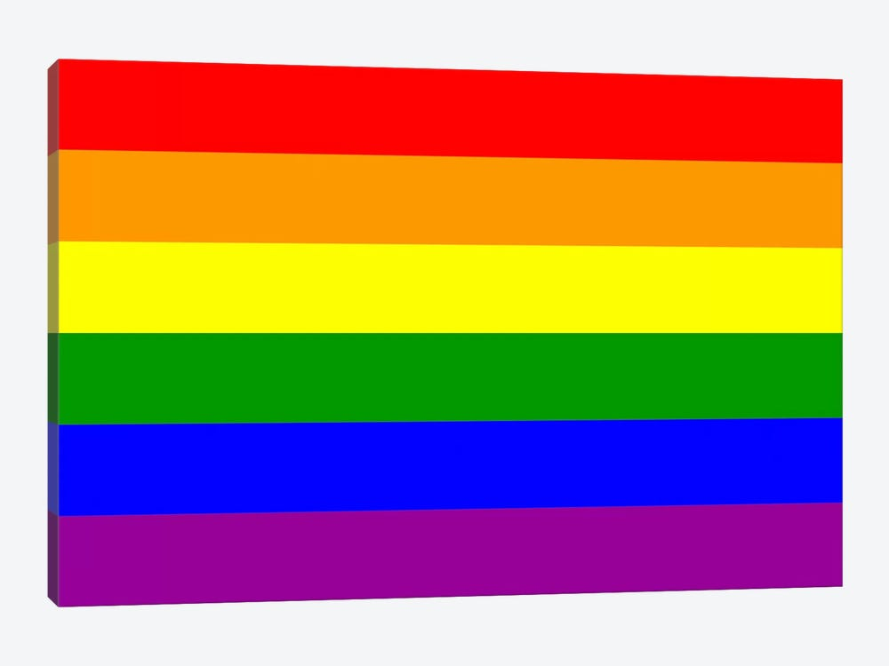LGBT Rainbow Flag by iCanvas 1-piece Canvas Print