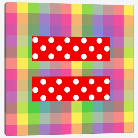 LGBT Human Rights & Equality Flag (Polka Dots) IV Canvas Print #FLG97} by iCanvas Canvas Artwork