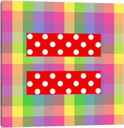 LGBT Human Rights & Equality Flag (Polka Dots) IV Canvas Art Print
