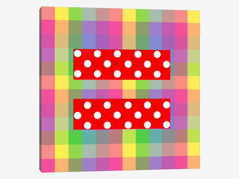 LGBT Human Rights & Equality Flag (Polka Dots) IV 1-piece Canvas Wall Art