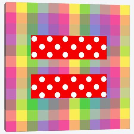 LGBT Human Rights & Equality Flag (Polka Dots) IV Canvas Print #FLG97} by iCanvas Canvas Artwork