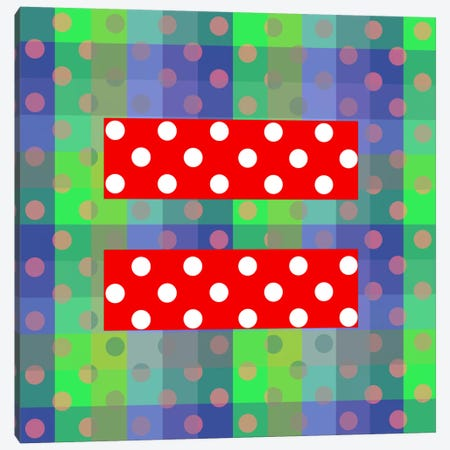 LGBT Human Rights & Equality Flag (Polka Dots) III Canvas Print #FLG98} by iCanvas Canvas Art Print