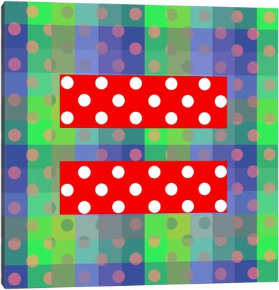 LGBT Human Rights & Equality Flag (Polka Dots) III Canvas Art Print