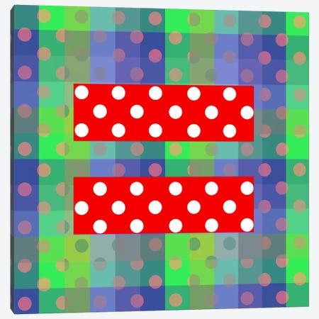 LGBT Human Rights & Equality Flag (Polka Dots) III Canvas Print #FLG98} by iCanvas Canvas Art Print