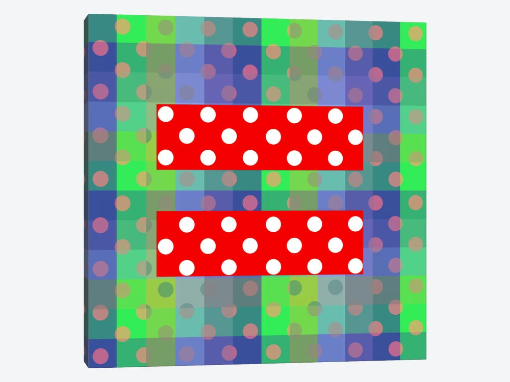 LGBT Human Rights & Equality Flag (Polka Dots) III by iCanvas 1-piece Art Print