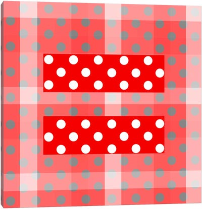 LGBT Human Rights & Equality Flag (Polka Dots) V Canvas Art Print