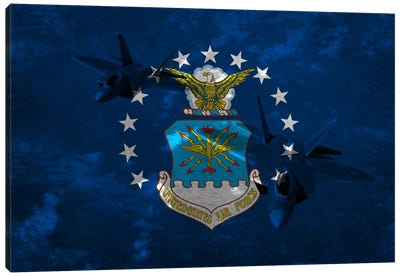 Air-Force FlagRaptor Canvas Art Print