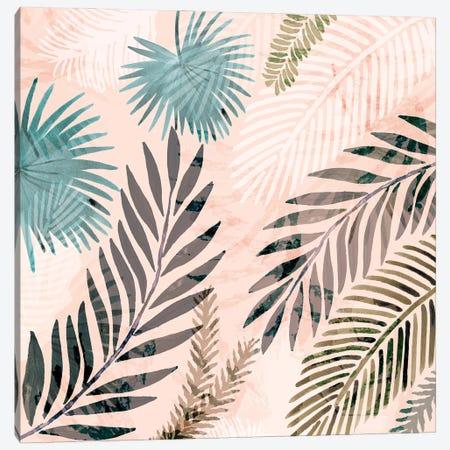 Vintage Palms III Canvas Print #FLK19} by Flora Kouta Art Print