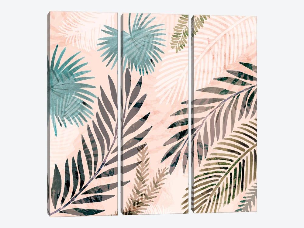 Vintage Palms III by Flora Kouta 3-piece Canvas Art