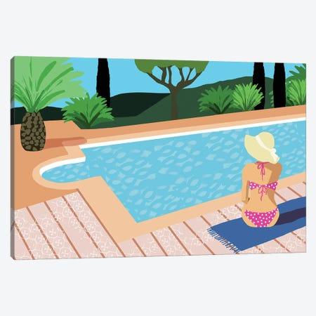 Pool Days I Canvas Print #FLK20} by Flora Kouta Canvas Art