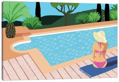 Pool Days I Canvas Art Print