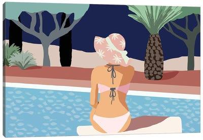 Pool Days II Canvas Art Print