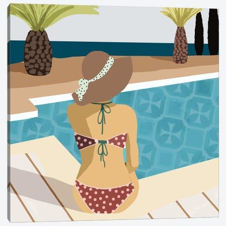 Pool Days III Canvas Print #FLK22} by Flora Kouta Canvas Wall Art