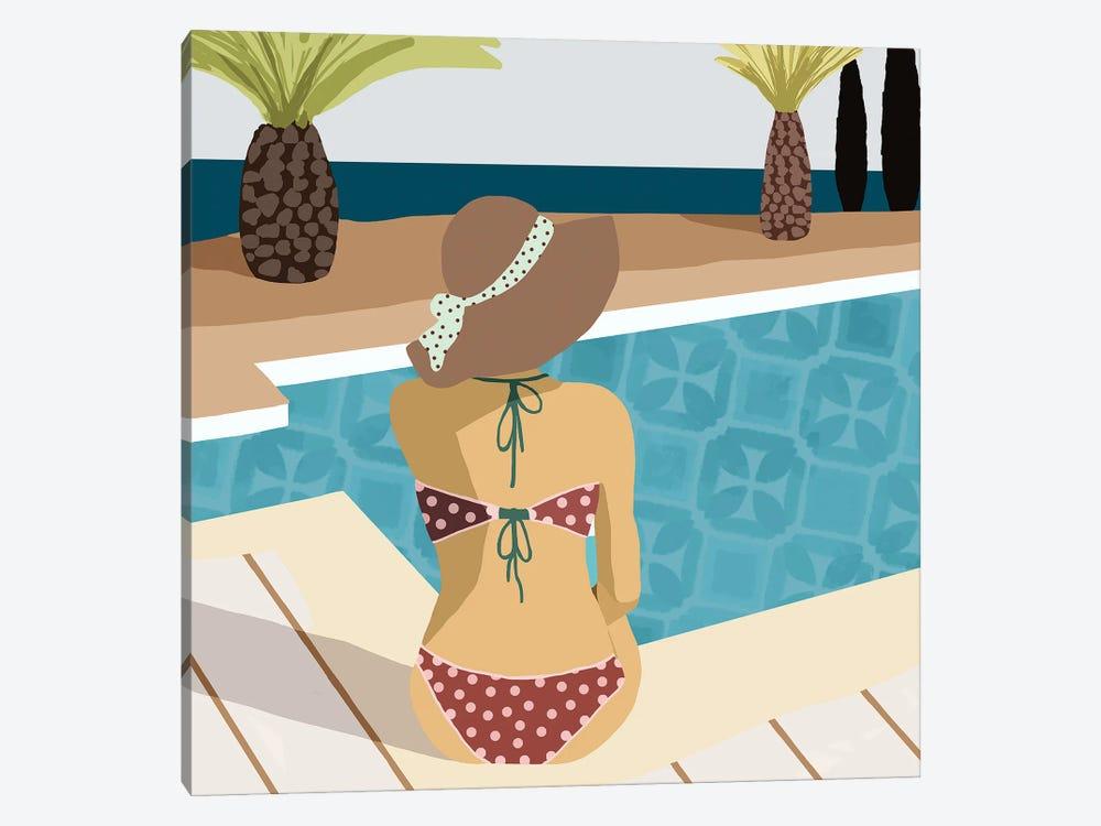 Pool Days III by Flora Kouta 1-piece Canvas Art