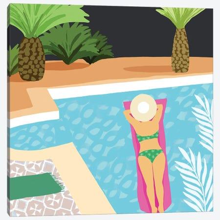 Pool Days IV Canvas Print #FLK23} by Flora Kouta Canvas Art
