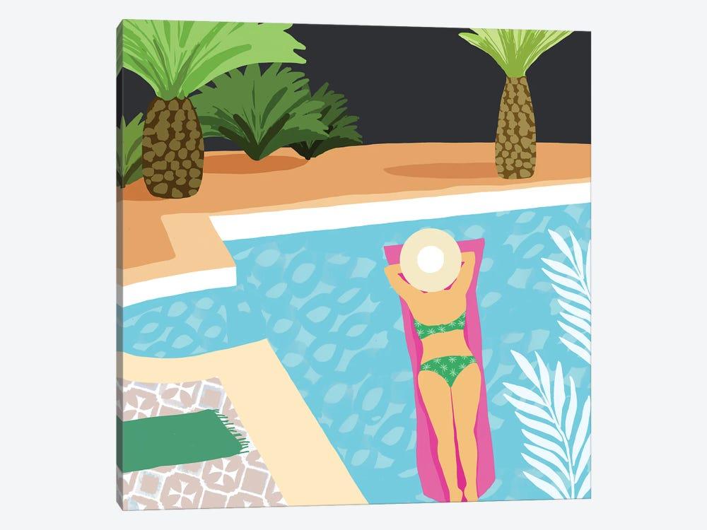 Pool Days IV by Flora Kouta 1-piece Canvas Print