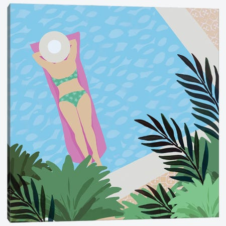 Pool Days V Canvas Print #FLK24} by Flora Kouta Art Print