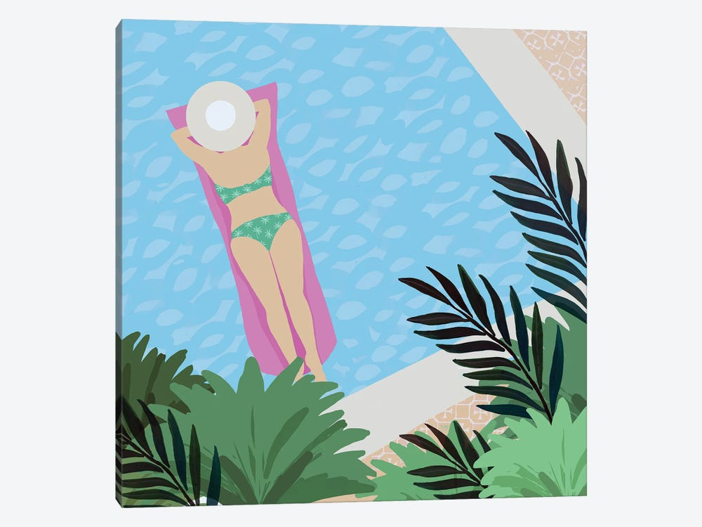 Pool Days V by Flora Kouta 1-piece Canvas Art