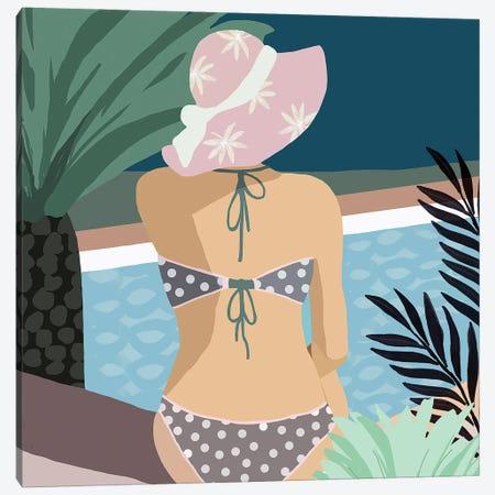 Pool Days VI Canvas Print #FLK25} by Flora Kouta Canvas Print