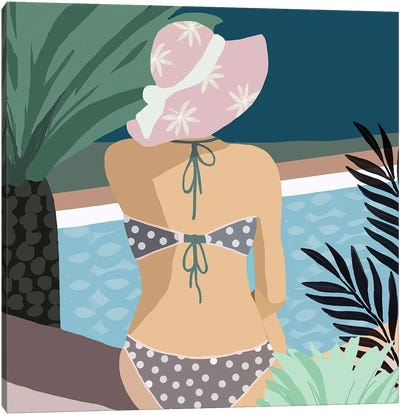Pool Days VI Canvas Art Print