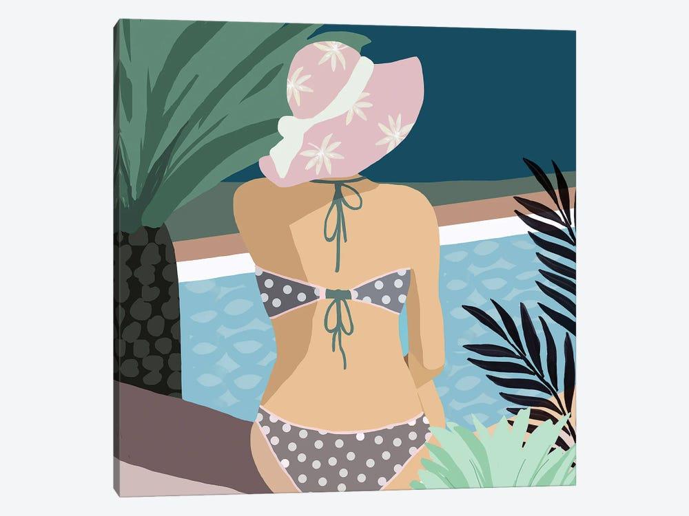 Pool Days VI by Flora Kouta 1-piece Canvas Art Print