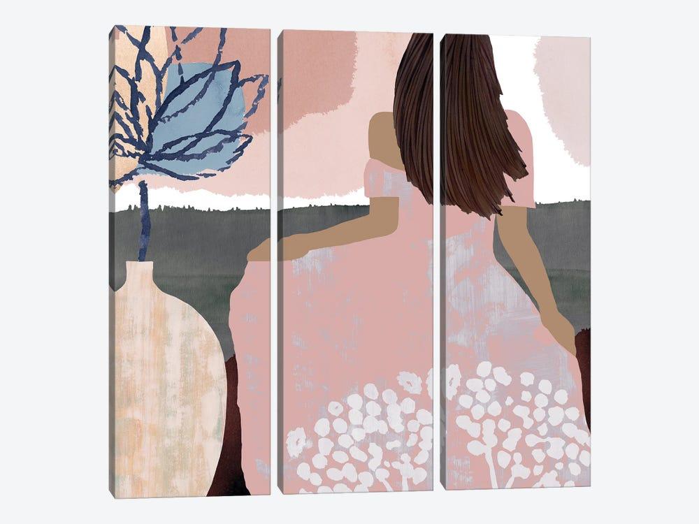 Sweet Jasmine III by Flora Kouta 3-piece Canvas Wall Art