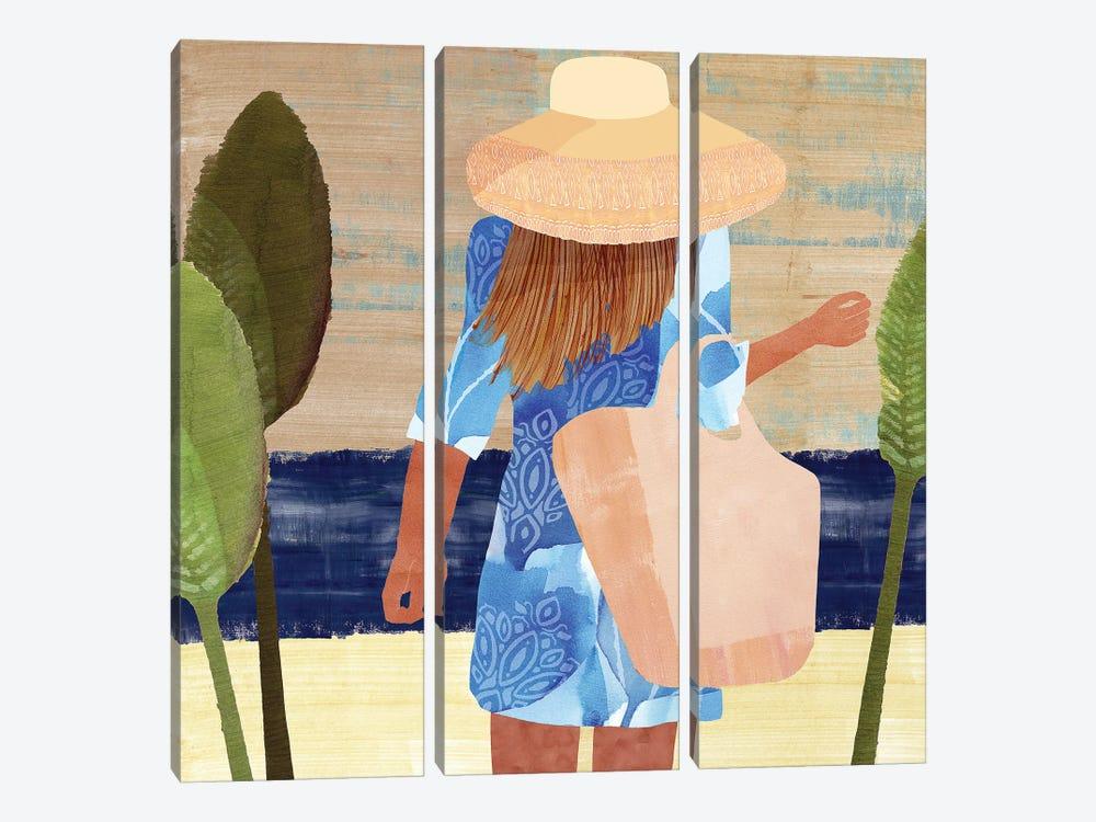 Formentera III by Flora Kouta 3-piece Canvas Artwork