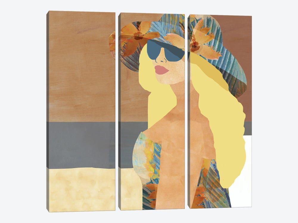 Las Salinas III by Flora Kouta 3-piece Art Print