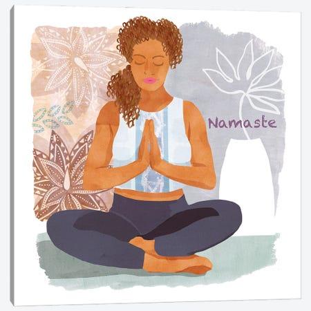 Yoga Time I Canvas Print #FLK39} by Flora Kouta Canvas Art Print