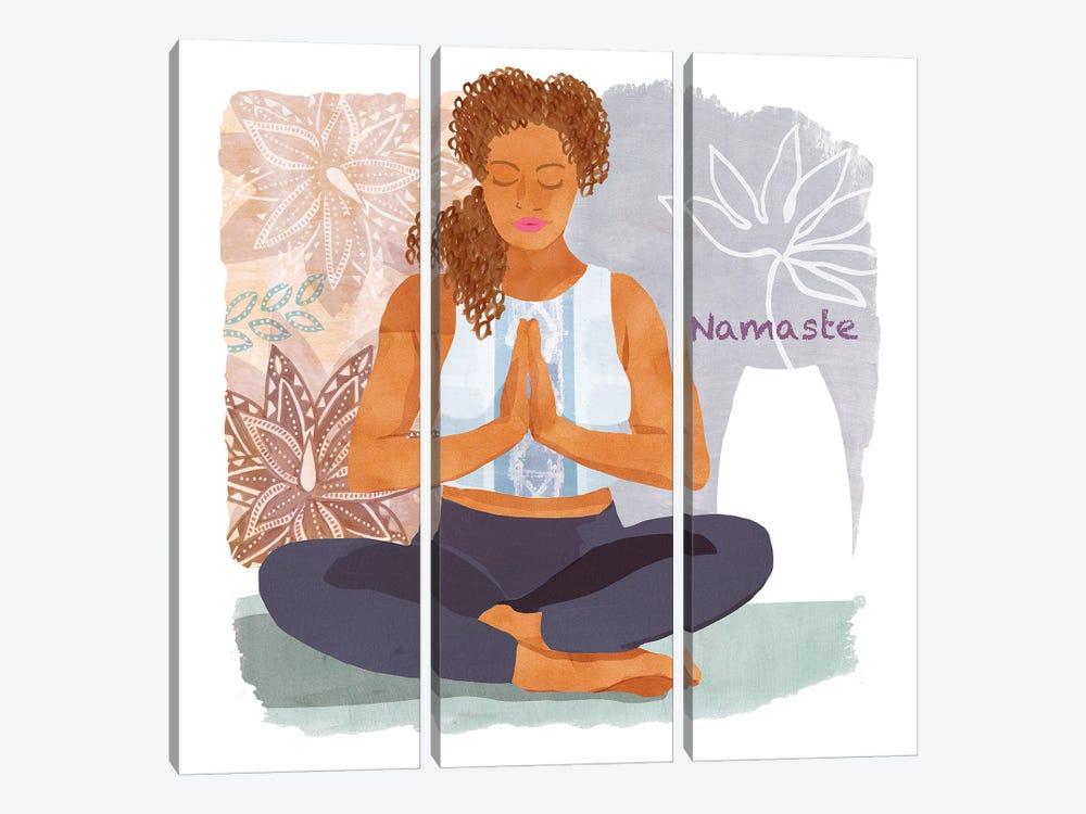 Yoga Time I by Flora Kouta 3-piece Canvas Artwork