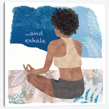 Yoga Time II Canvas Print #FLK40} by Flora Kouta Canvas Wall Art