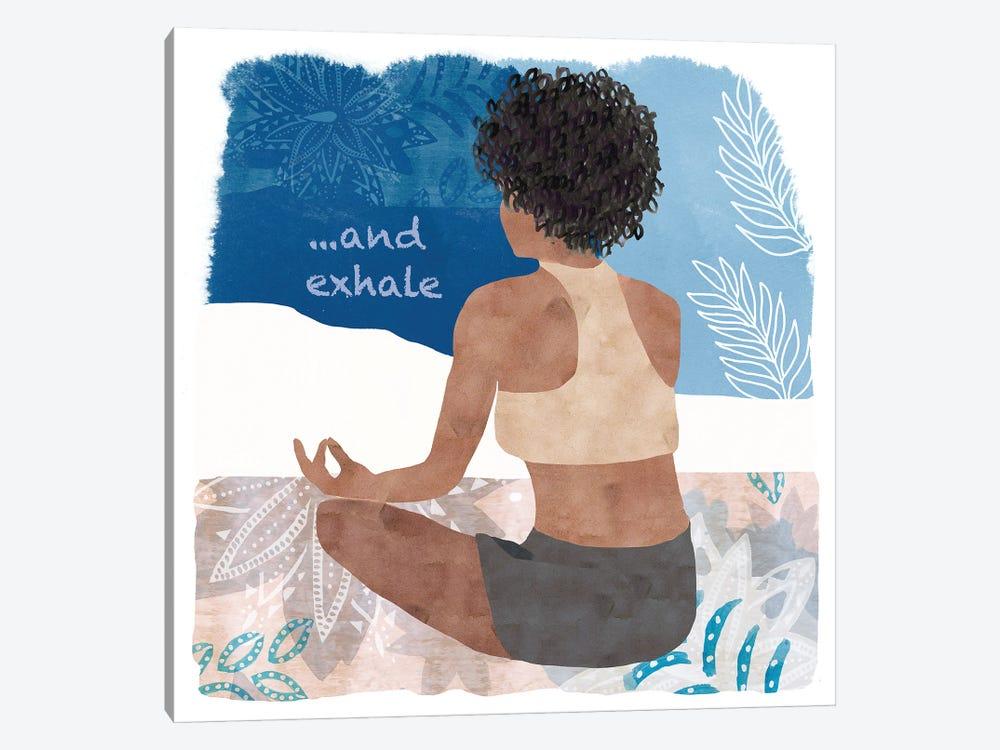 Yoga Time II by Flora Kouta 1-piece Canvas Art