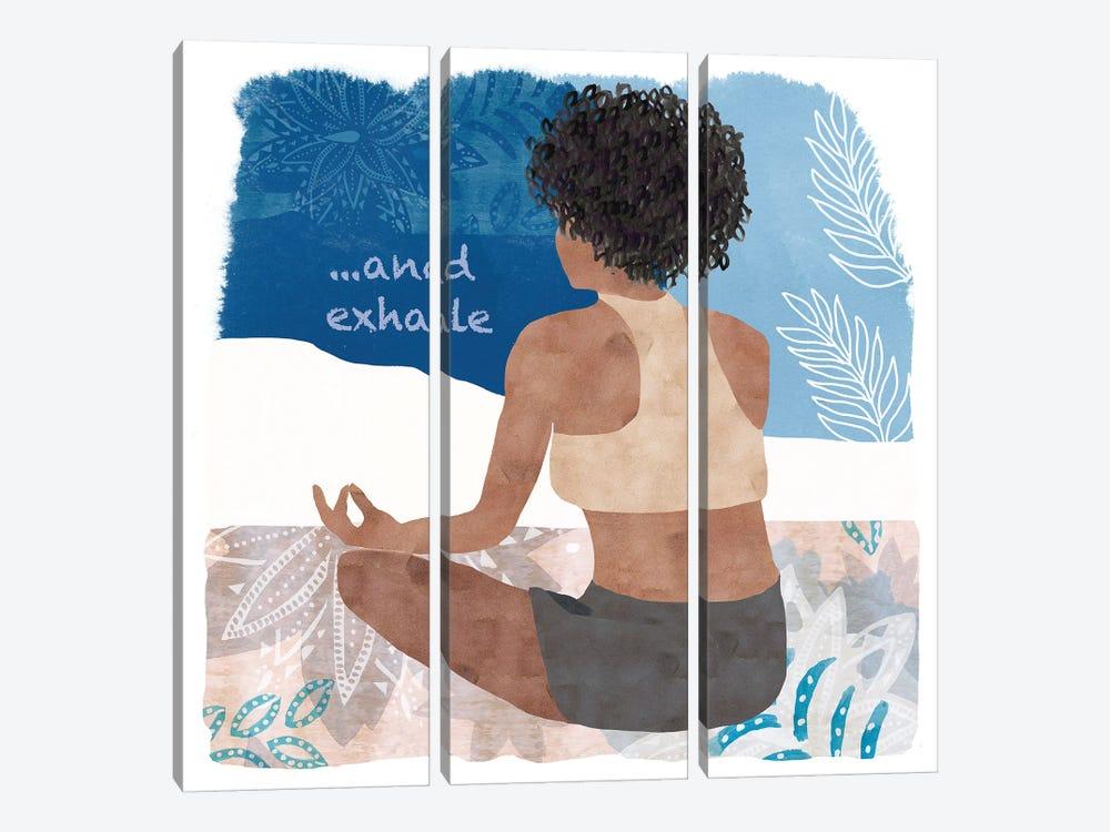 Yoga Time II by Flora Kouta 3-piece Canvas Wall Art