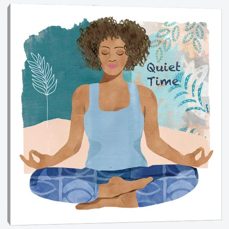 Yoga Time III Canvas Print #FLK41} by Flora Kouta Canvas Artwork