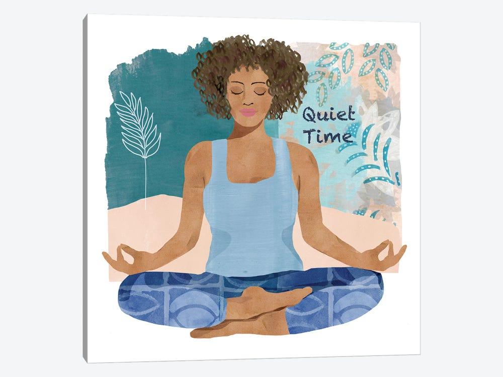 Yoga Time III by Flora Kouta 1-piece Canvas Print