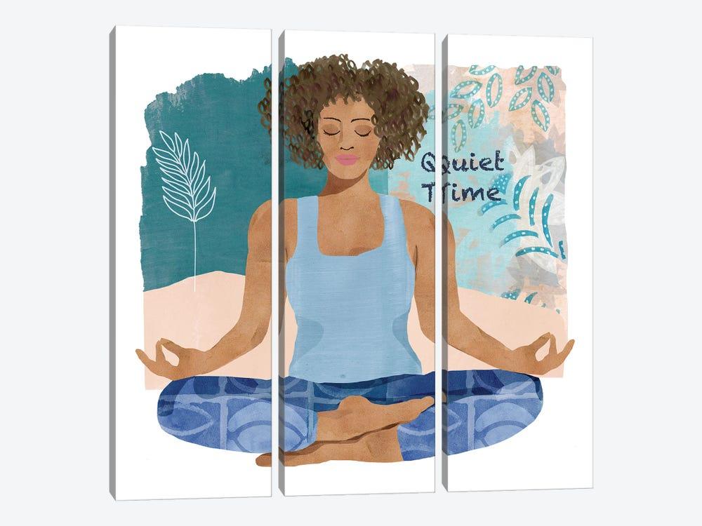 Yoga Time III by Flora Kouta 3-piece Canvas Print